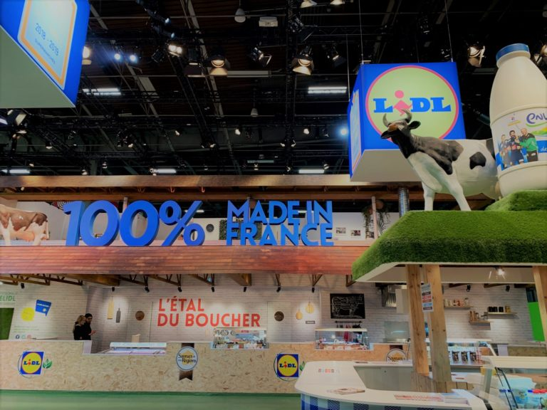 Stand Lidl au Salon International de l'Agriculture 2019 conçu par Hopscotch