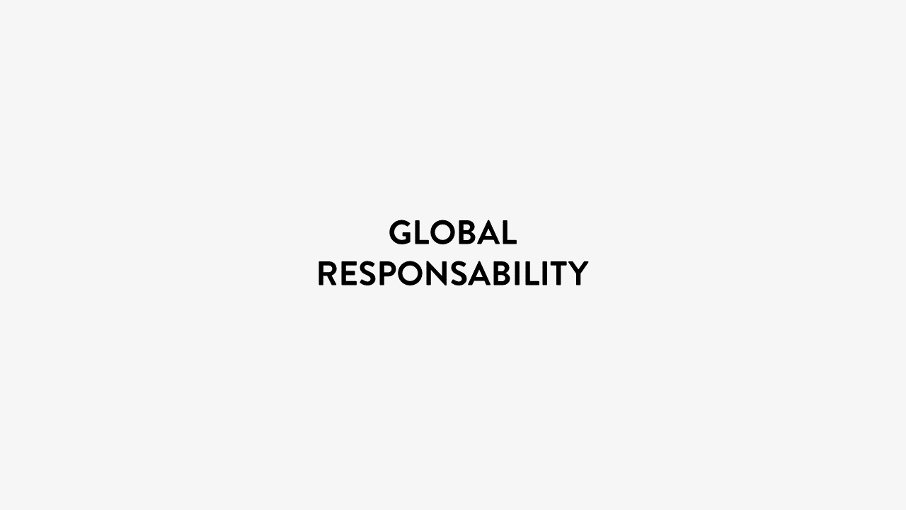 Global responsability